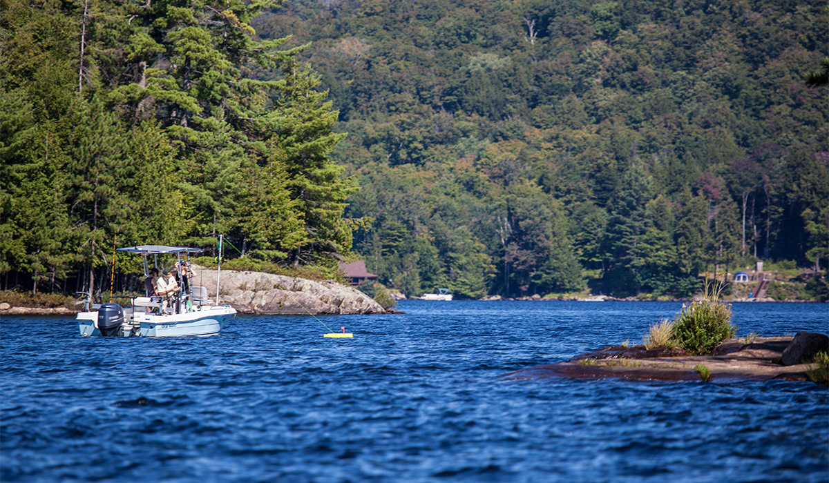 Fishing near the Islands on Big Tupper Lake, ROOST/Shaun Ondak photo