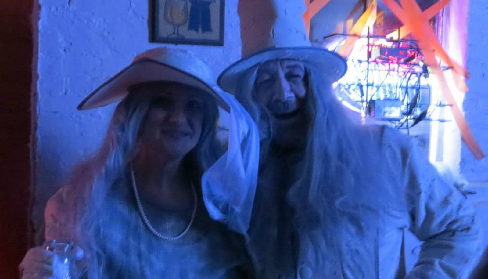 Ghosts haunt the P-2's Franklin Dairy Music Hall during the 2014 Halloween Party...