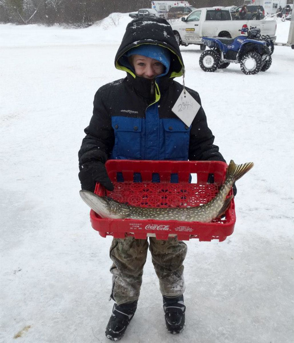 Dress for success ice fishing edition tupper lake for Kids fishing gear