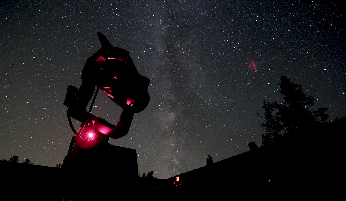 View of the night sky from the Adirondack Public Observatory (Marc Staves photo)