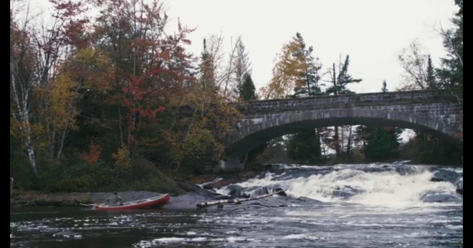 Recognize this location? Actor Jamal Mallory-McCree who plays Derek in Cloned: The Recreator Chronicles is trying to escape his clone via a canoe takeout at the popular fishing spot below Bog River Falls.