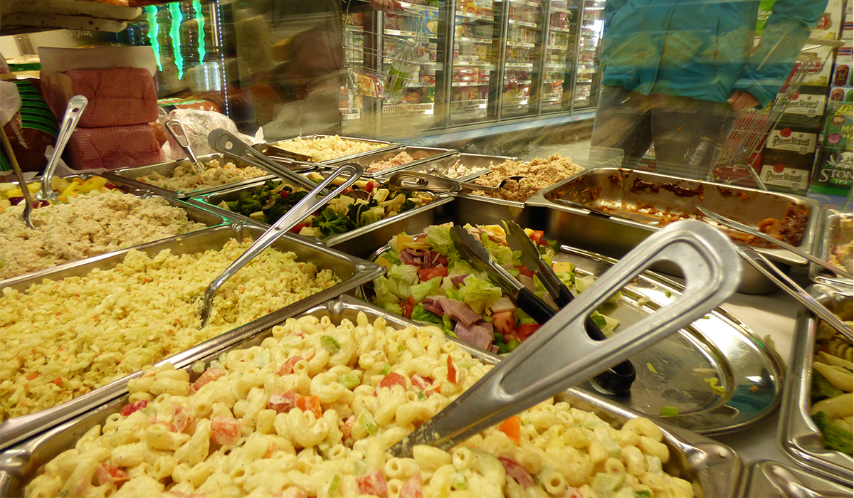 The salad selection at Shaheen's stands well above your average supermarket deli salad selection.