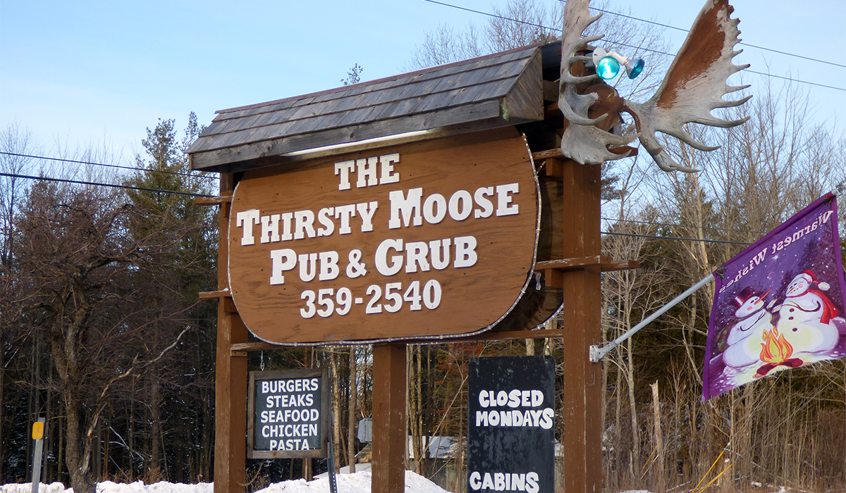 Welcome to the Thirsty Moose in Childwold, NY.