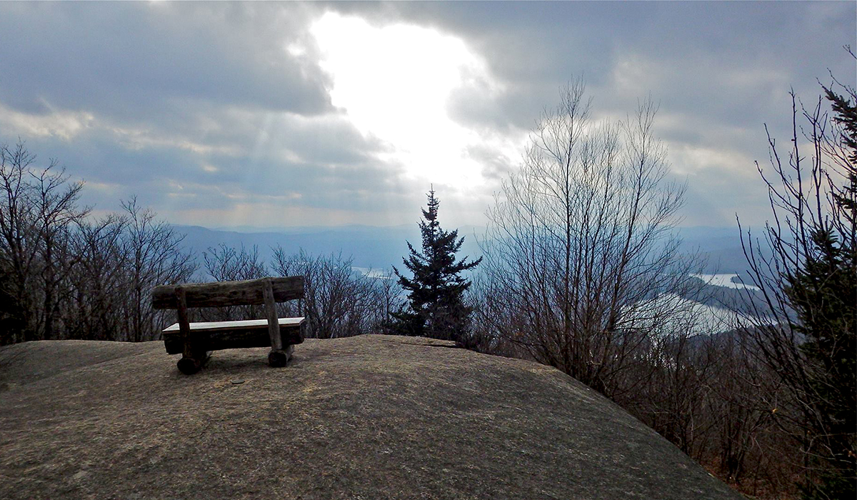 Early December view from the summit of  Mount Arab. Photo courtesy of John Quinn.
