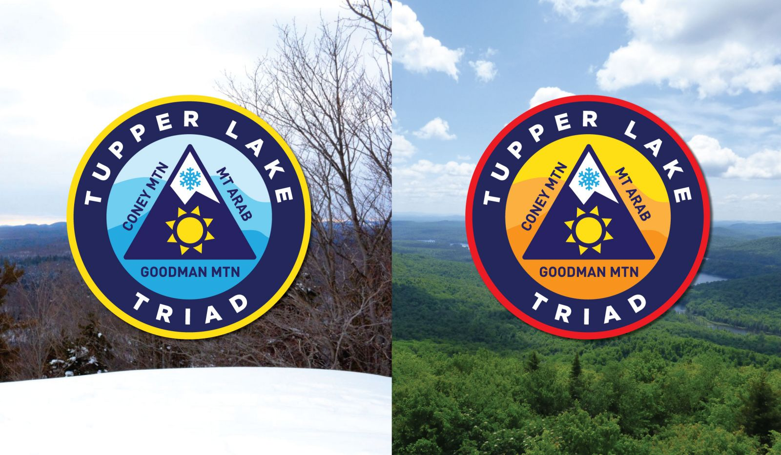 Tupper Lake Triad patch designs for both the summer and winter challenge.