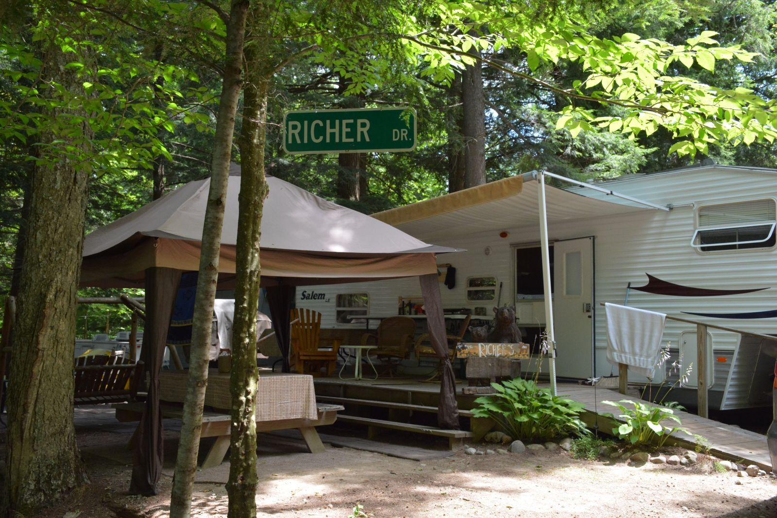 These campers who have strong Tupper Lake roots have made their site their home away from home.