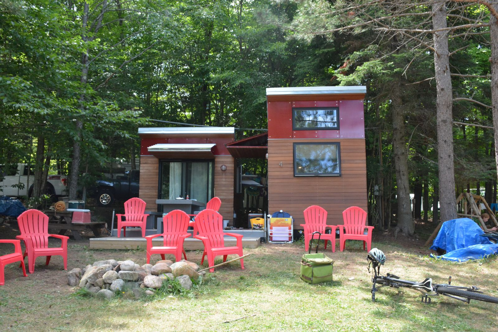 Each site presents a unique style of the campers' home away from home.