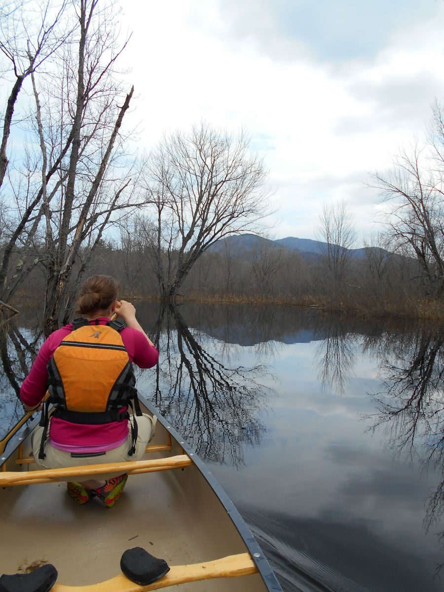 Paddling on the Raquette River
