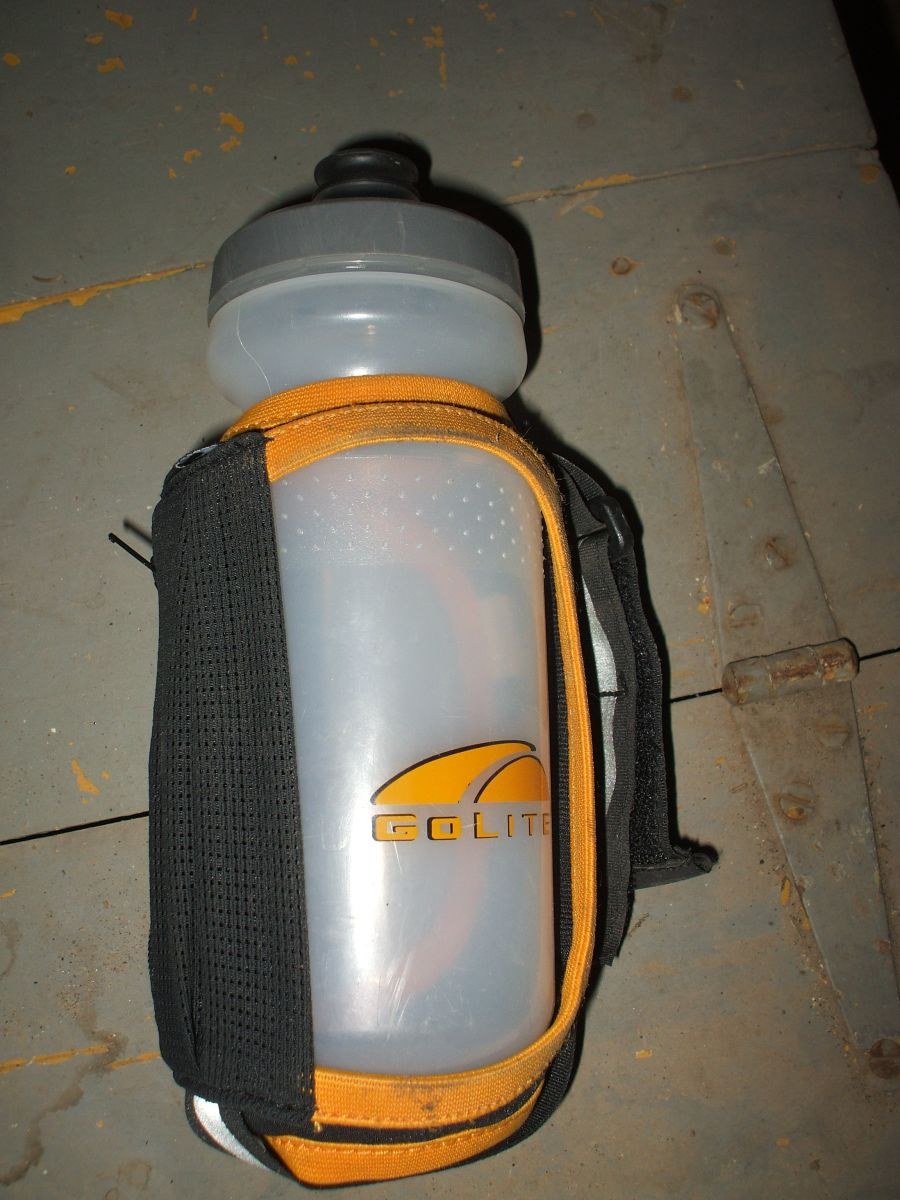 Example of a handheld water bottle