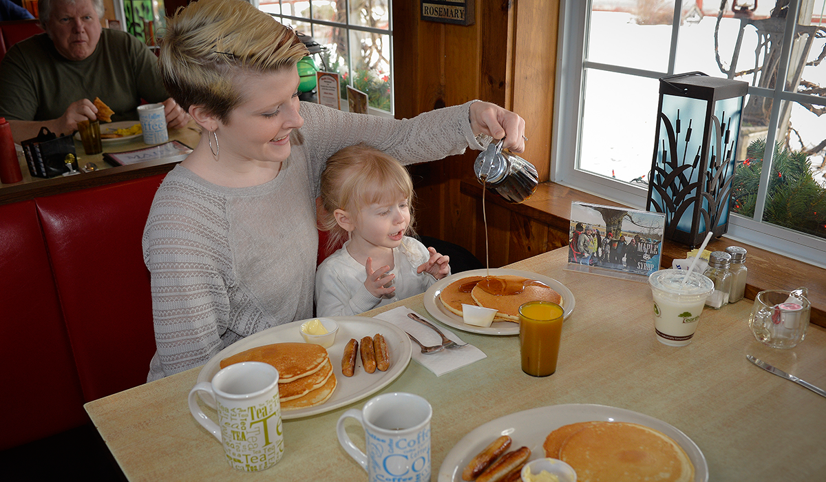 Maple Syrup and Pancakes at Main Street Restaurant in Tupper Lake, NY (Wild Center Photo)