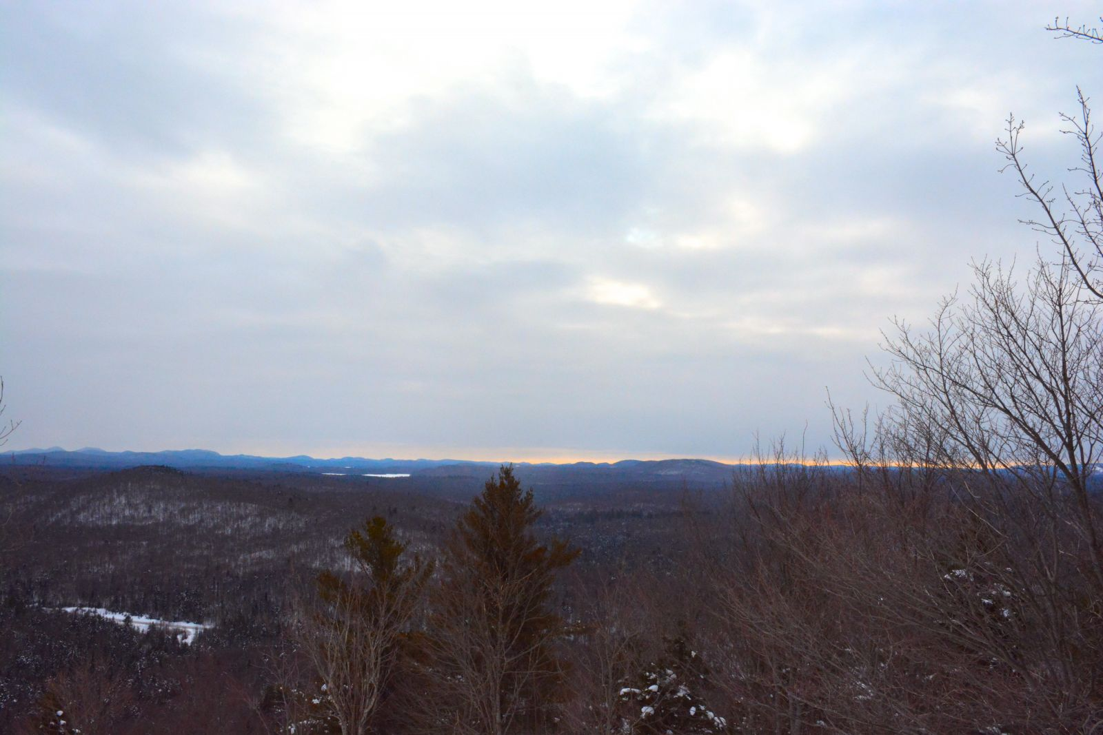 Late afternoon view from the top of Goodman Mountain