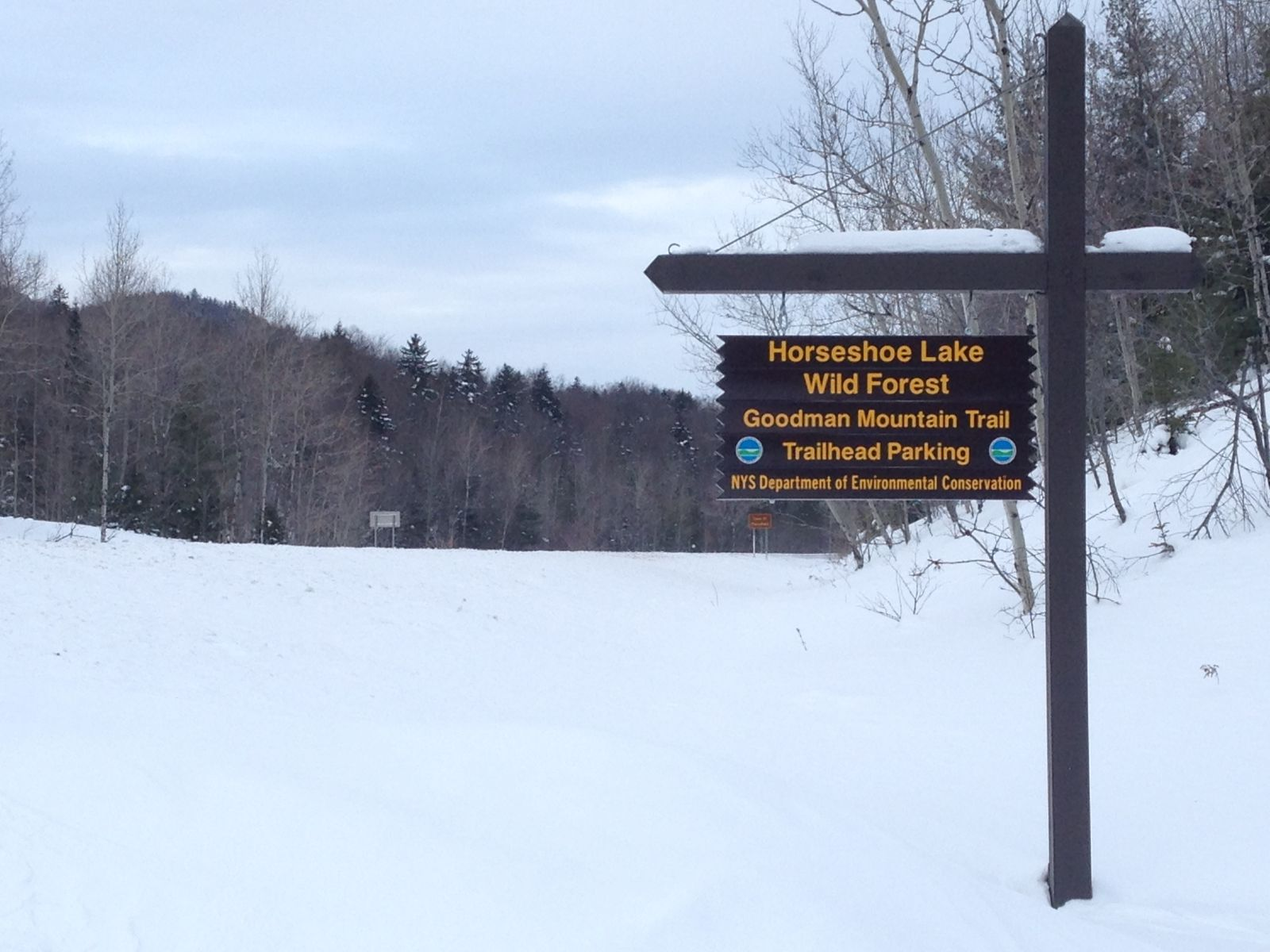 Trailhead sign on NYS Route 30 - south of Tupper Lake, NY
