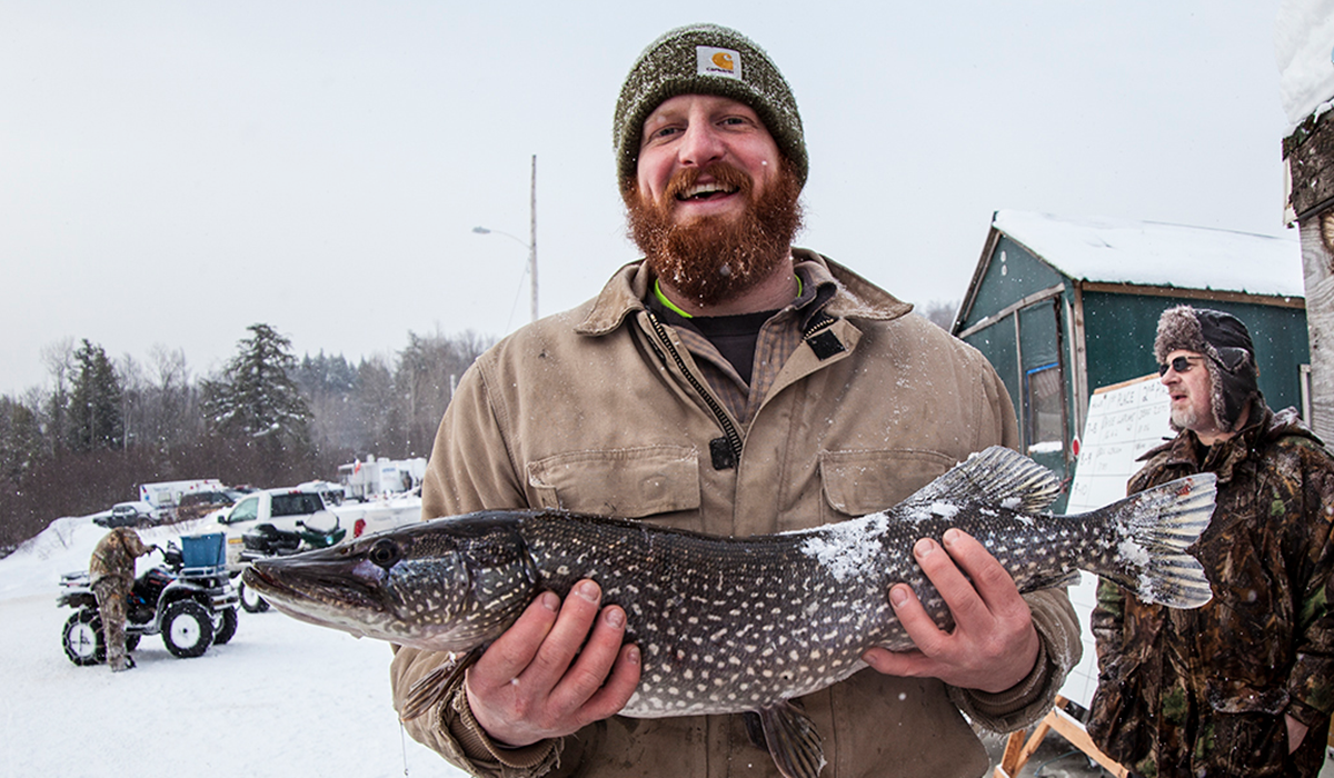 Did you say farm-to-table or lake-to-table? (Northern Challenge Ice Fishing Derby - ROOST/Shaun Ondak photo)