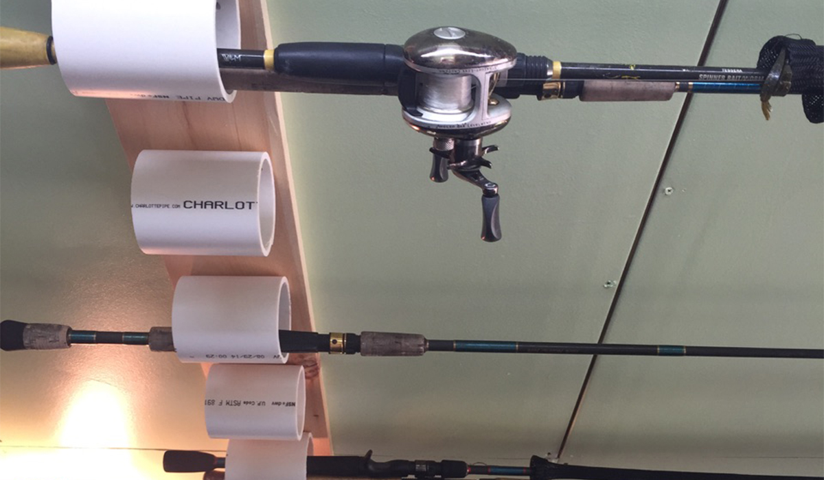 Keep your pole up and out of the way without going out to purchase an expensive rack