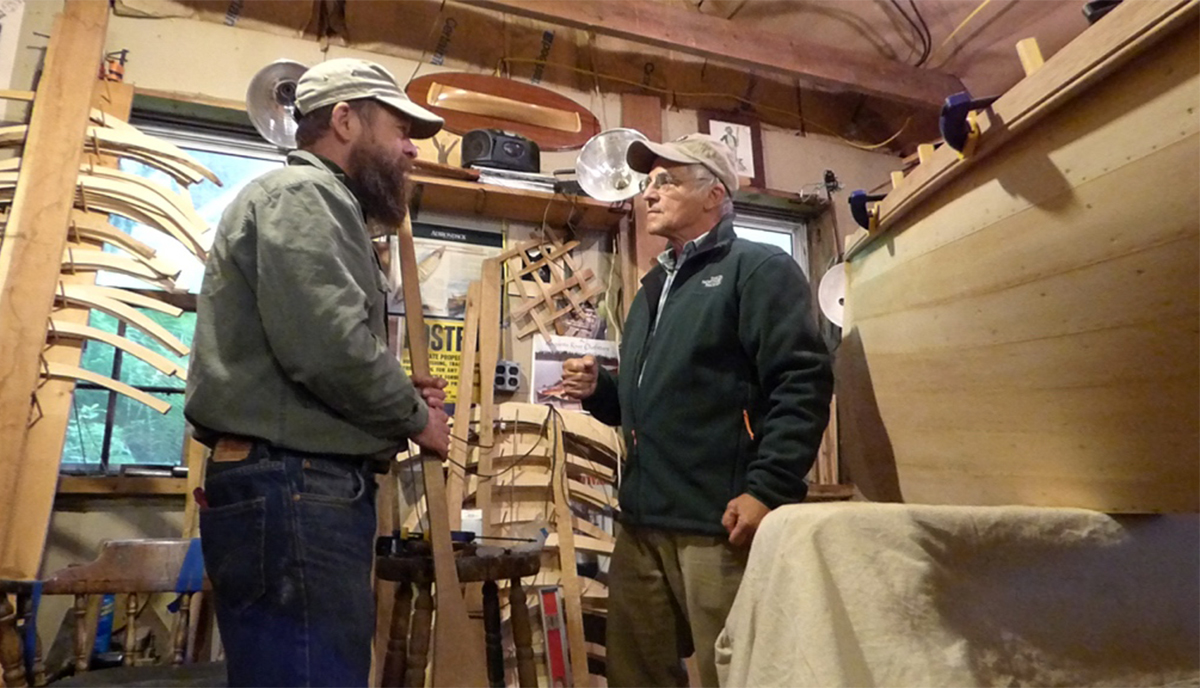 Don & Rob discuss the elements of an Adirondack Guide Boat in his workshop