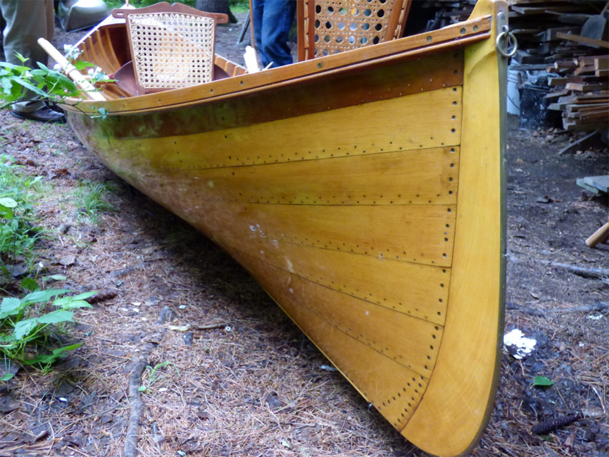 One of Frenette's finished boats.
