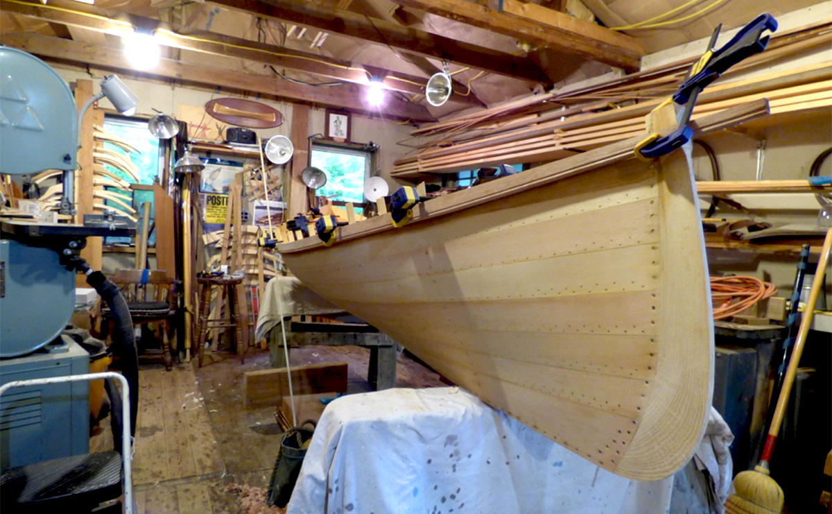 Rob Frenette's workshop at Raquette River Outfitters in Tupper Lake, NY