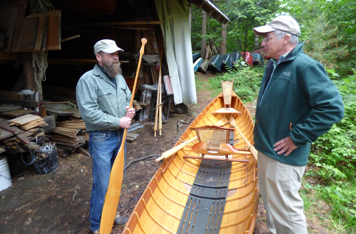 Discussing the history and craftsmanship of the Adirondack Guide Boat.