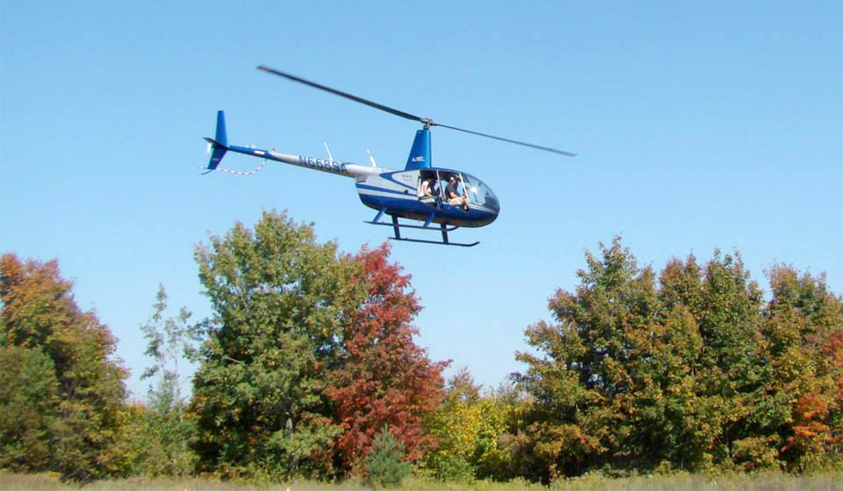 """North Country Heliflite departs with riders from Big Tupper's Oktupperfest (Jim """"Cookie"""" Lanther photo)"""
