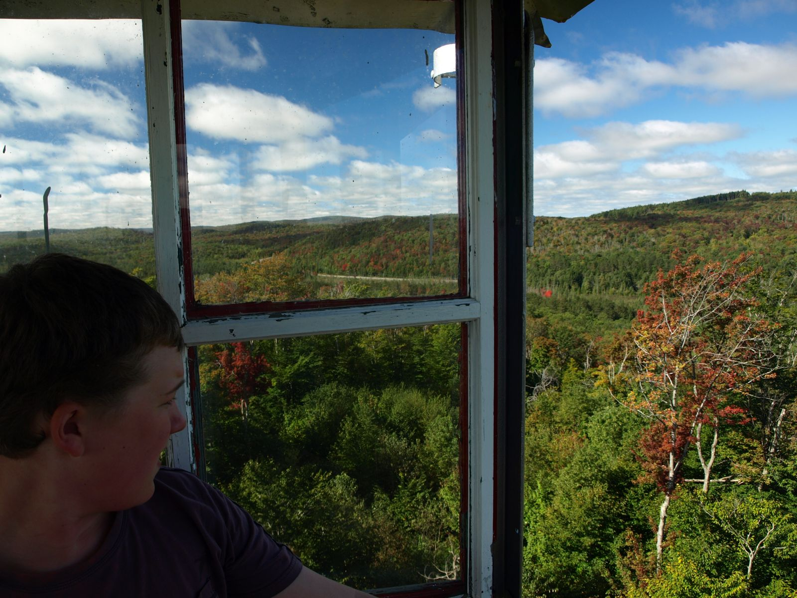Looking out from the fire tower on Cathedral Rock