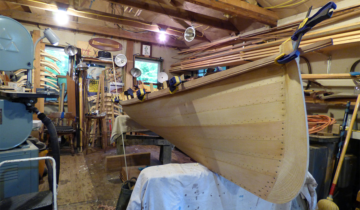 A work in progress at Raquette River Outfitters in Tupper Lake.
