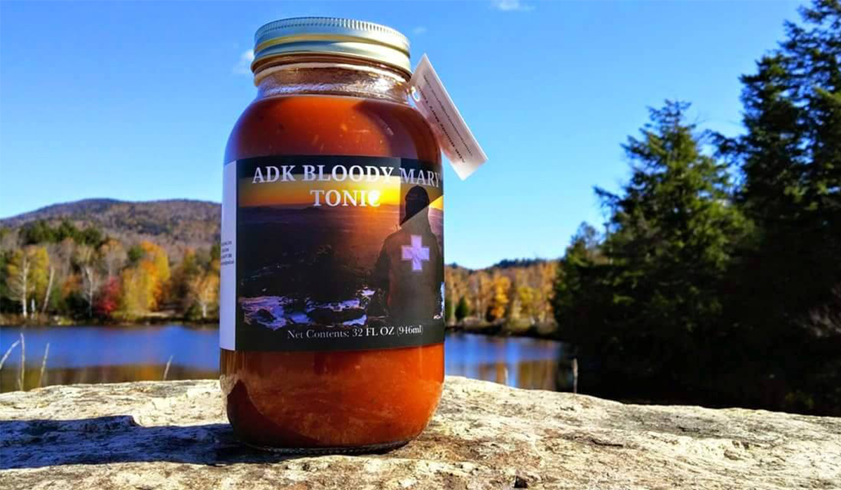 A jar of ADK Bloody Mary Tonic sitting proudly in its favorite environment. (photo provided)