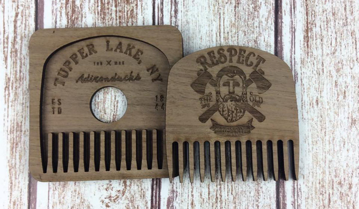 Just in time for Novembeard... it's your Tupper Lake Beard Comb, a Spruce & Hemlock Country Store exclusive. (photo provided)