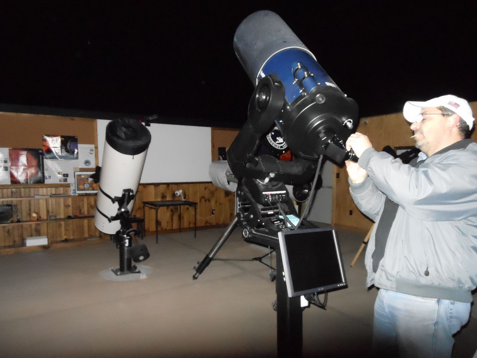 Marc setting up the telescope