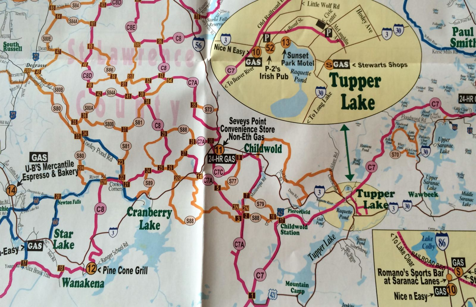 Visit Adirondack's 2015-16 Snowmobile Map (Randy Freeman Enterprises)