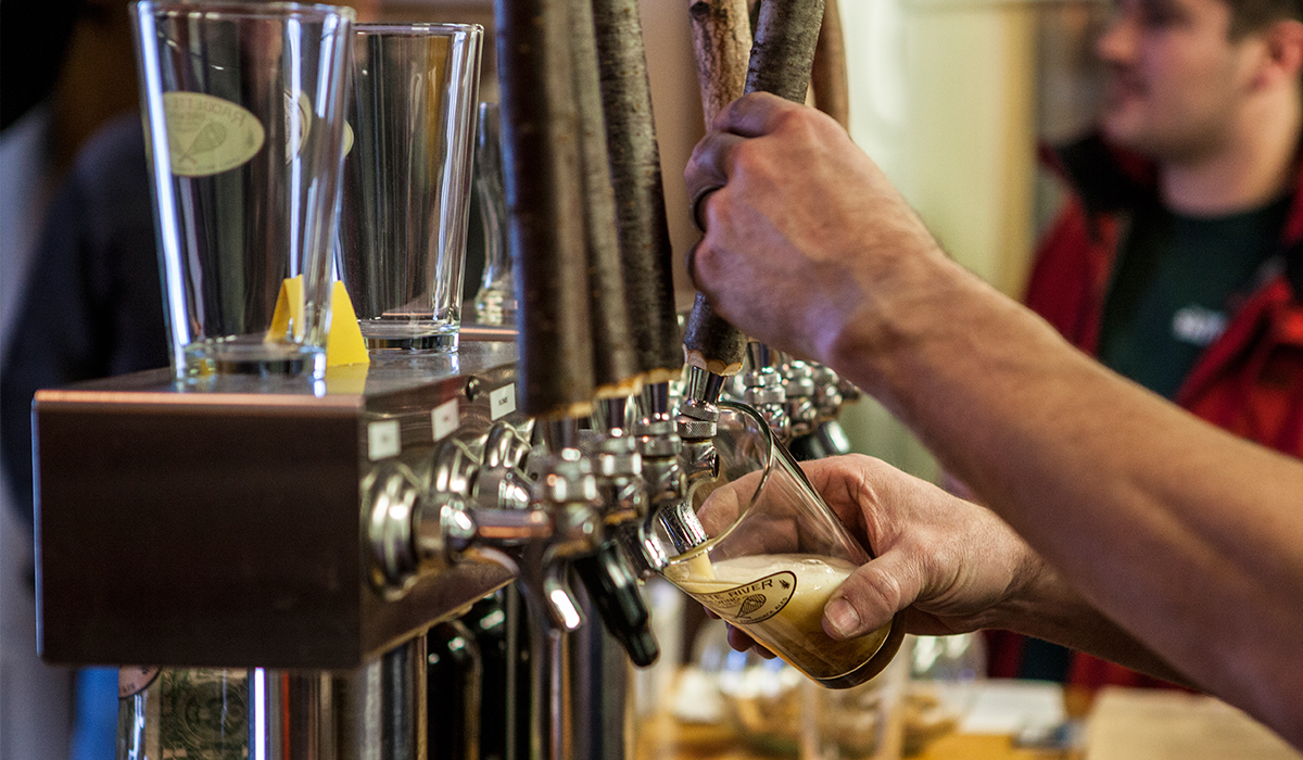 "With up to 8 house brews on tap, Raquette River Brewing is quickly becoming a local ""must-stop."""