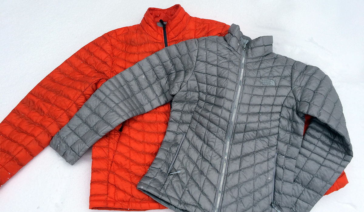 a micro-down mid layer provides warmth and flexibility.