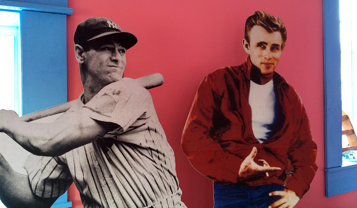 """Lou Gehrig & James Dean will join Elvis, Marilyn Monroe and others as """"regulars"""" at new Ohana's 50's Diner."""