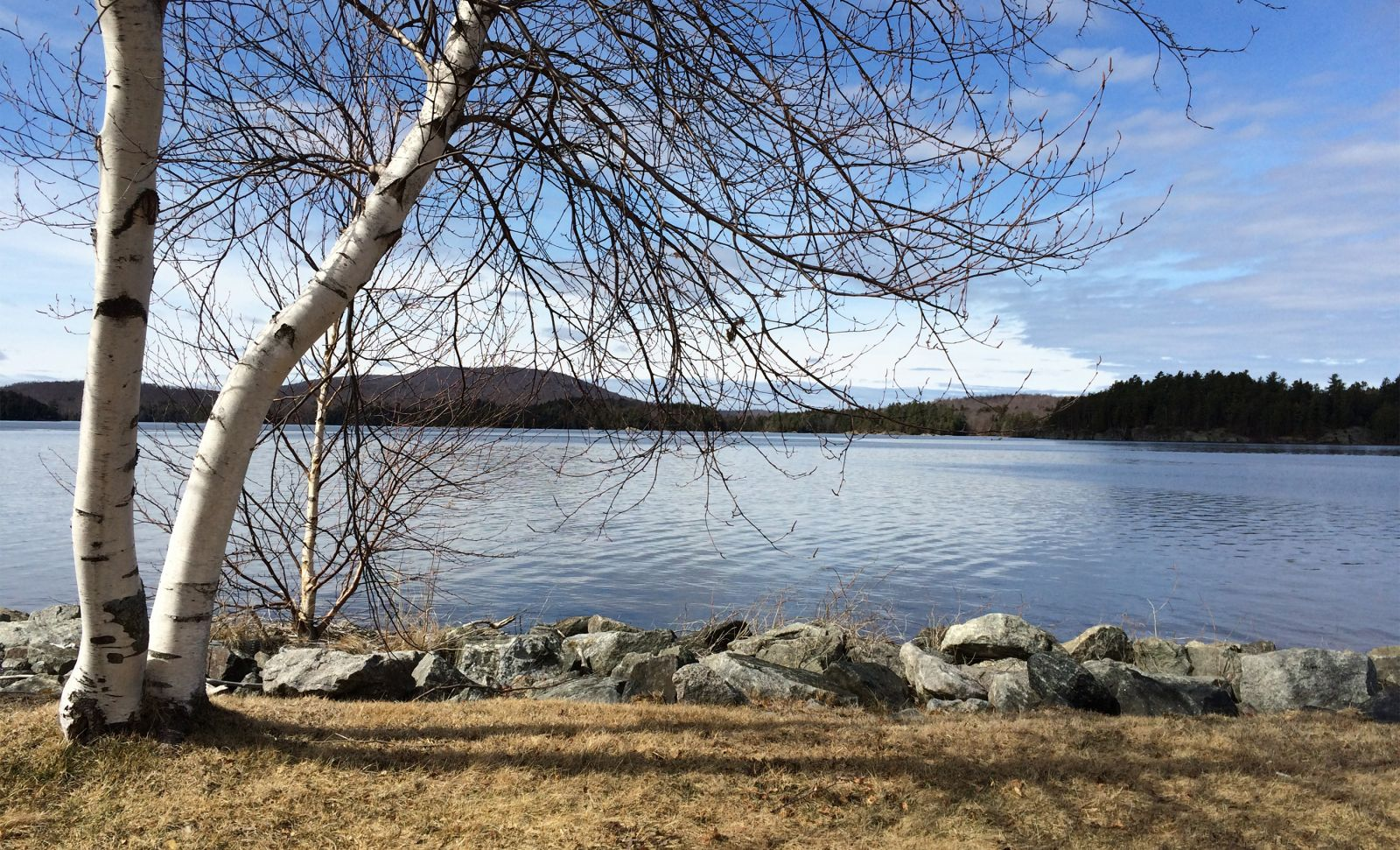 View of Big Tupper Lake from the Tupper Lake Boat Launch on Route 30. Photo taken March 15, 2016. Yes, I said March 15th!