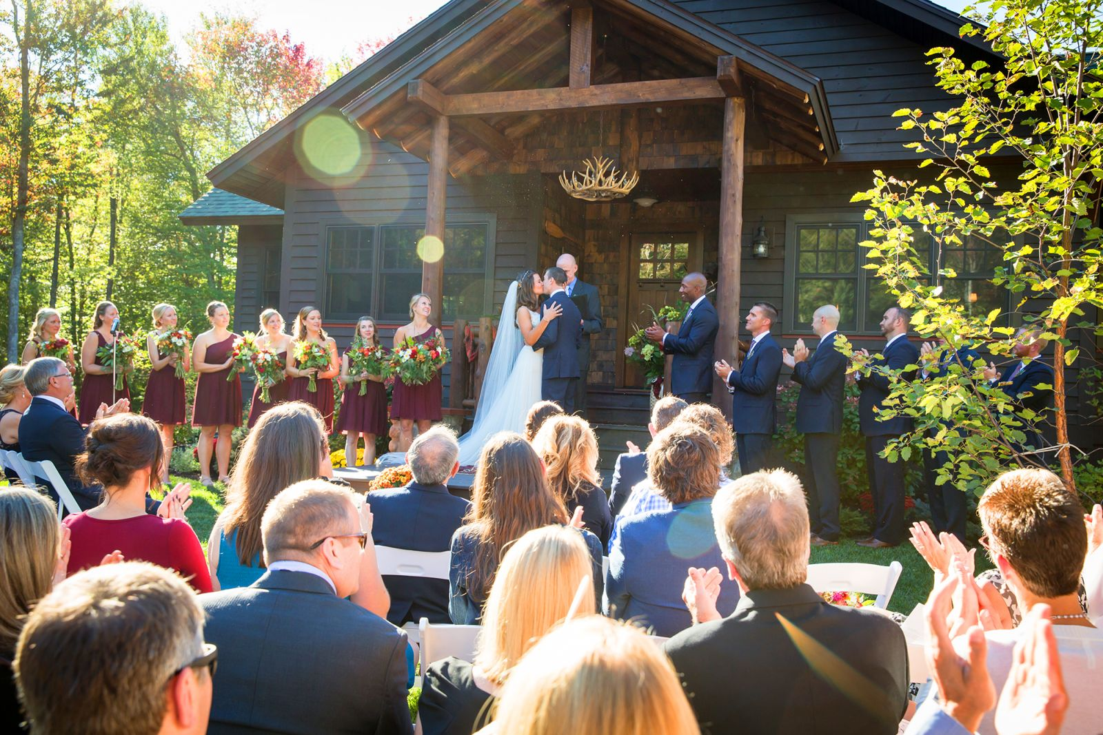 Meg & Matt's Tupper Lake Woodland Wedding. Image courtesy of © Jeffrey Foote Photography