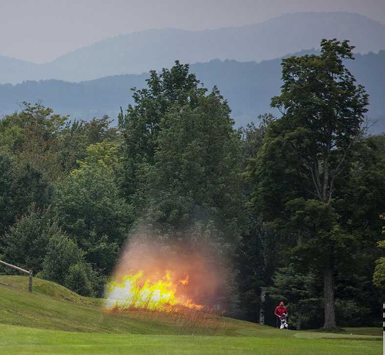 This course is hole is hot. Literally!