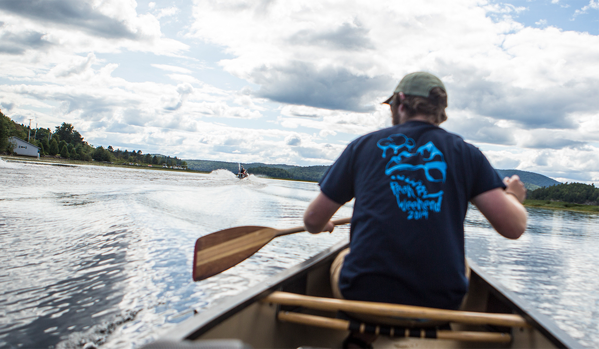 Paddling on Big Tupper Lake