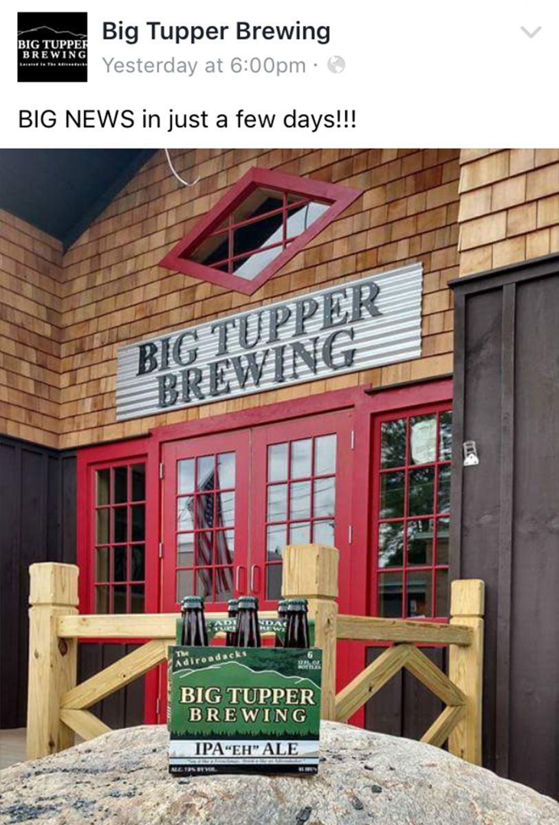 It's official! Big Tupper Brewing has announced the opening date for La La's at BTB: Saturday, July 30, 2016!