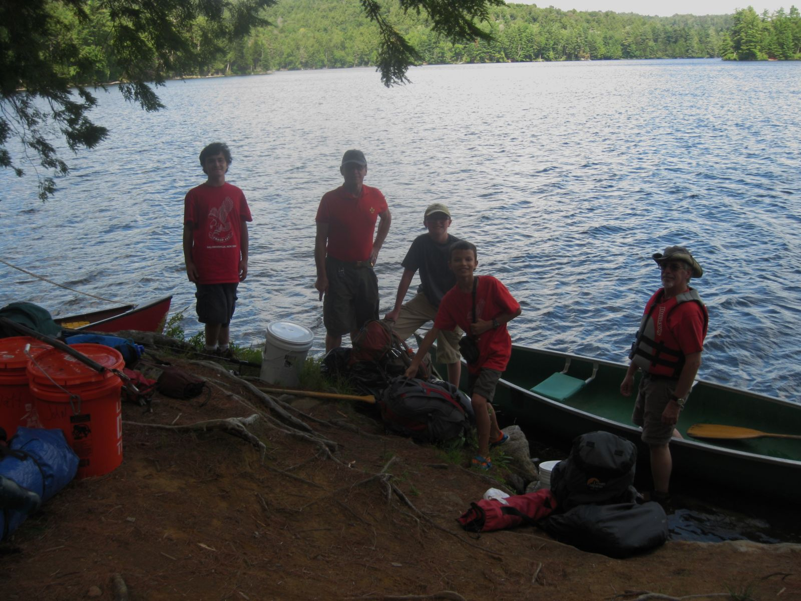 The Scouts came paddling in!