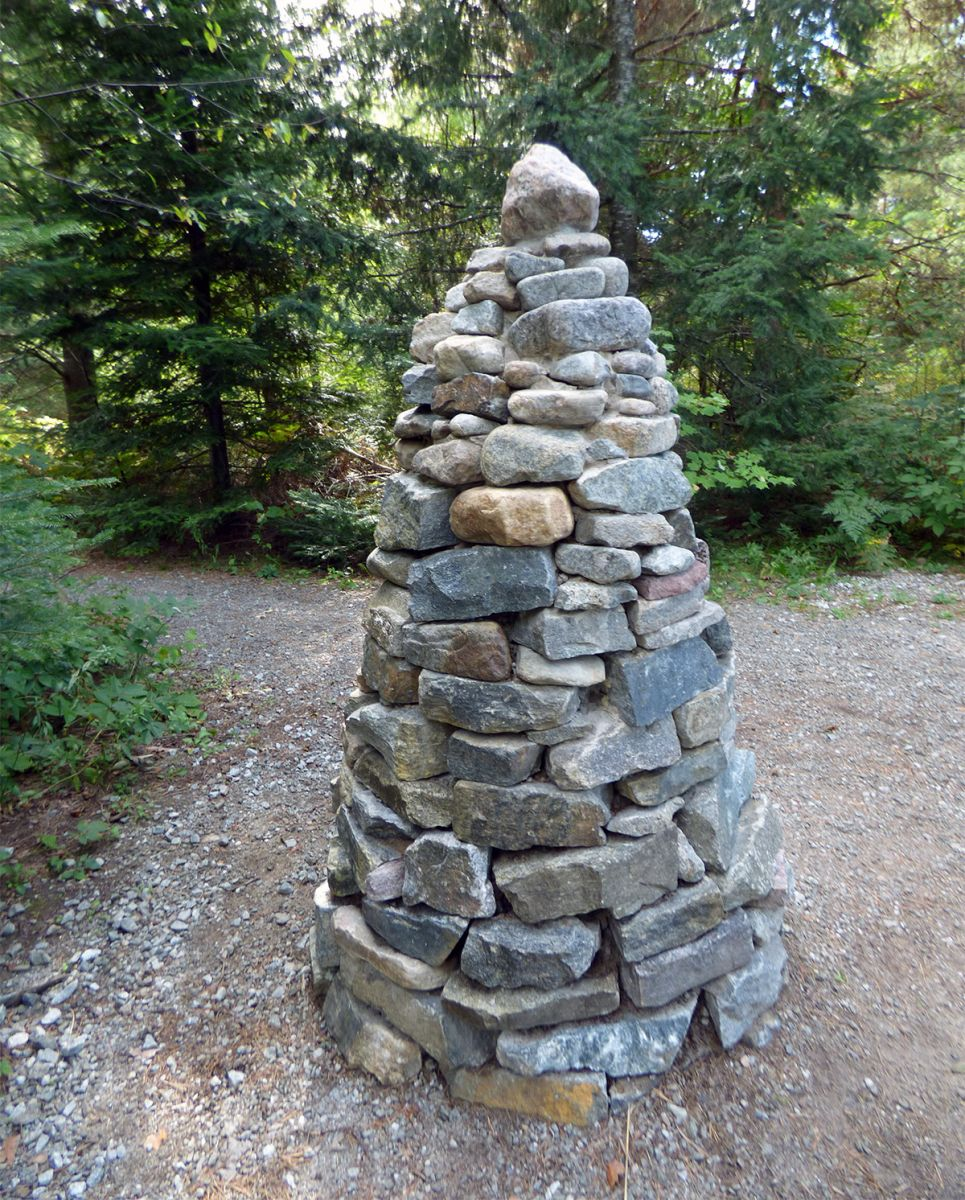 This Wild Center cairn stands for more than just a trail marker.