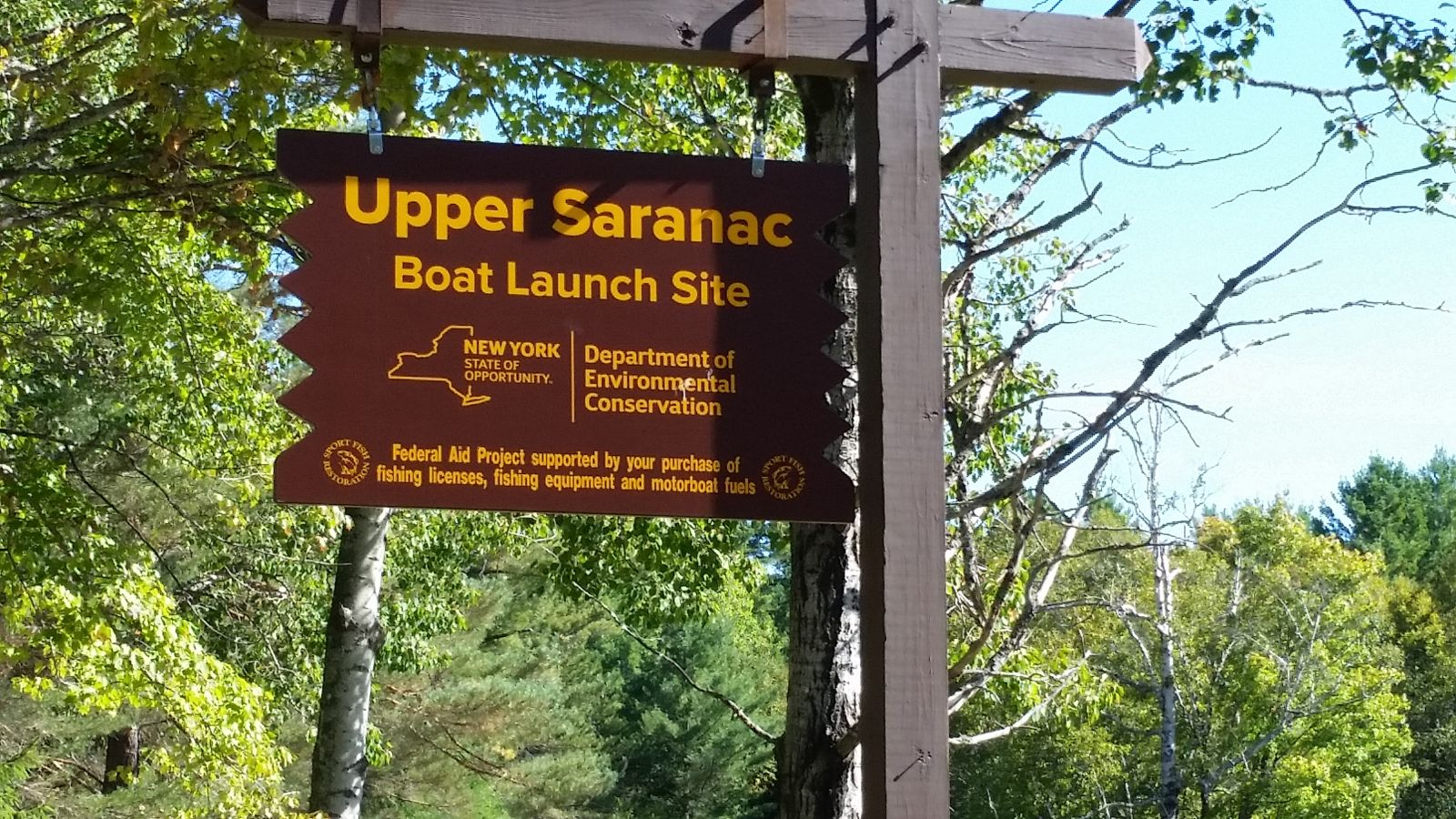 Public parking area - Upper Saranac Boat Launch