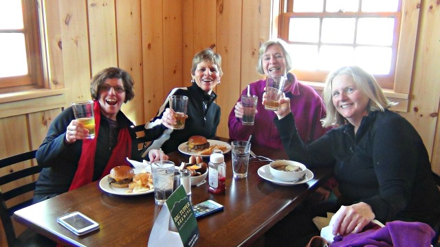 Just the place to refill after a morning of snowshoeing.