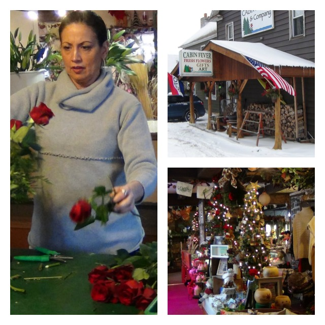 """Anne put together a Valentine's bouquet while I watched. Her store is all about """"small batch crafts."""""""