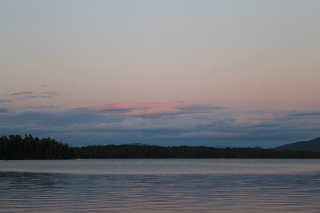 The large canvas of Tupper Lake and the frame of the mountains lets Mother Nature paint her best.