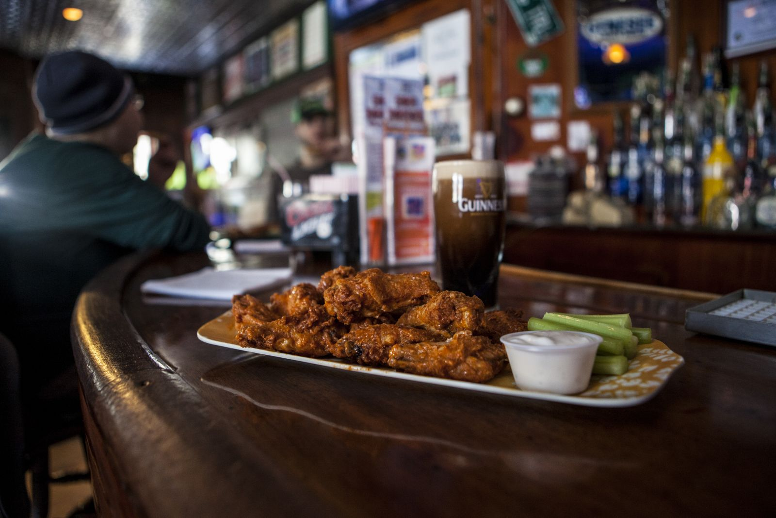Wings and beer, the perfect combo.