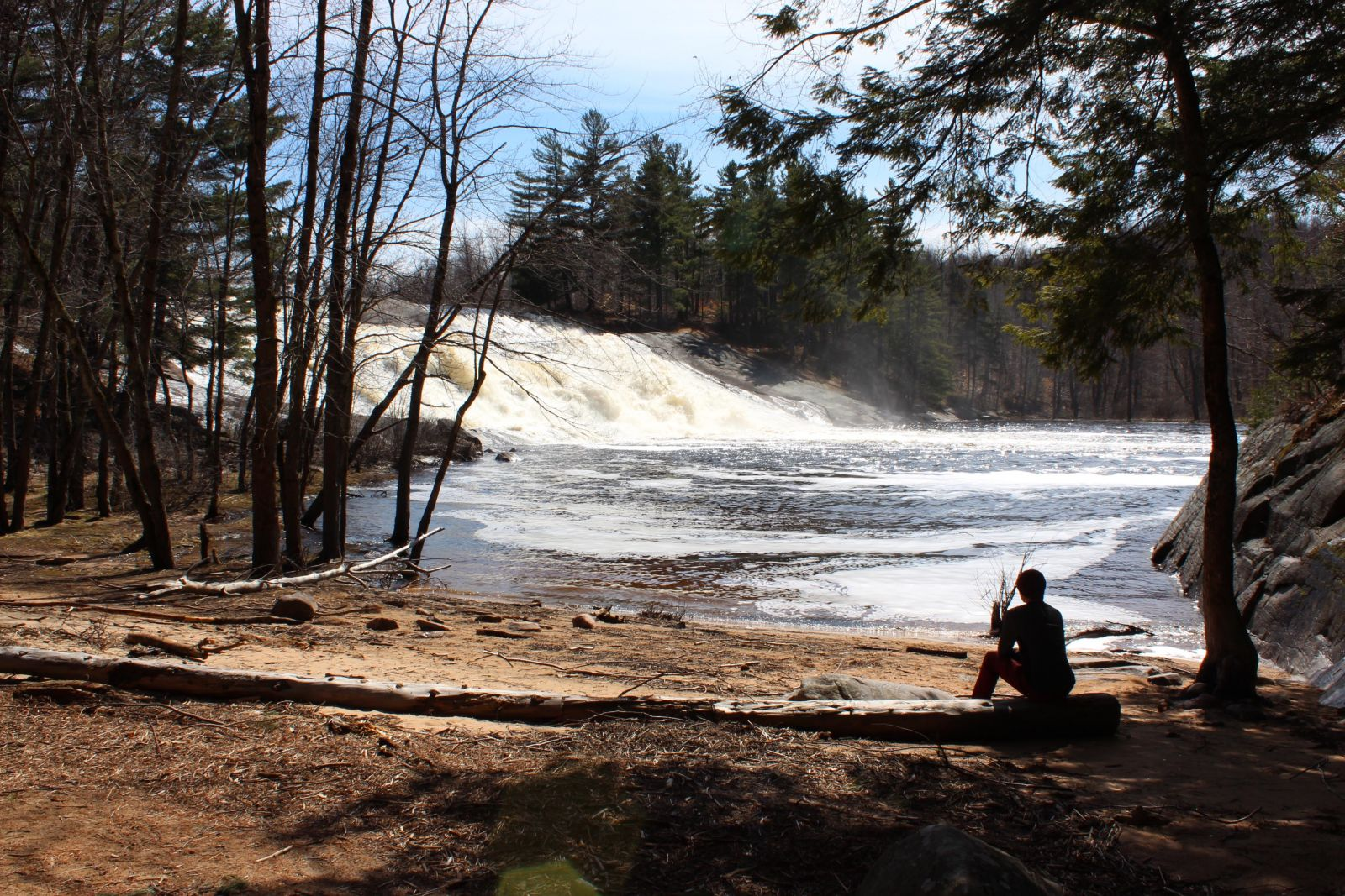 Lampson Falls from the cove.
