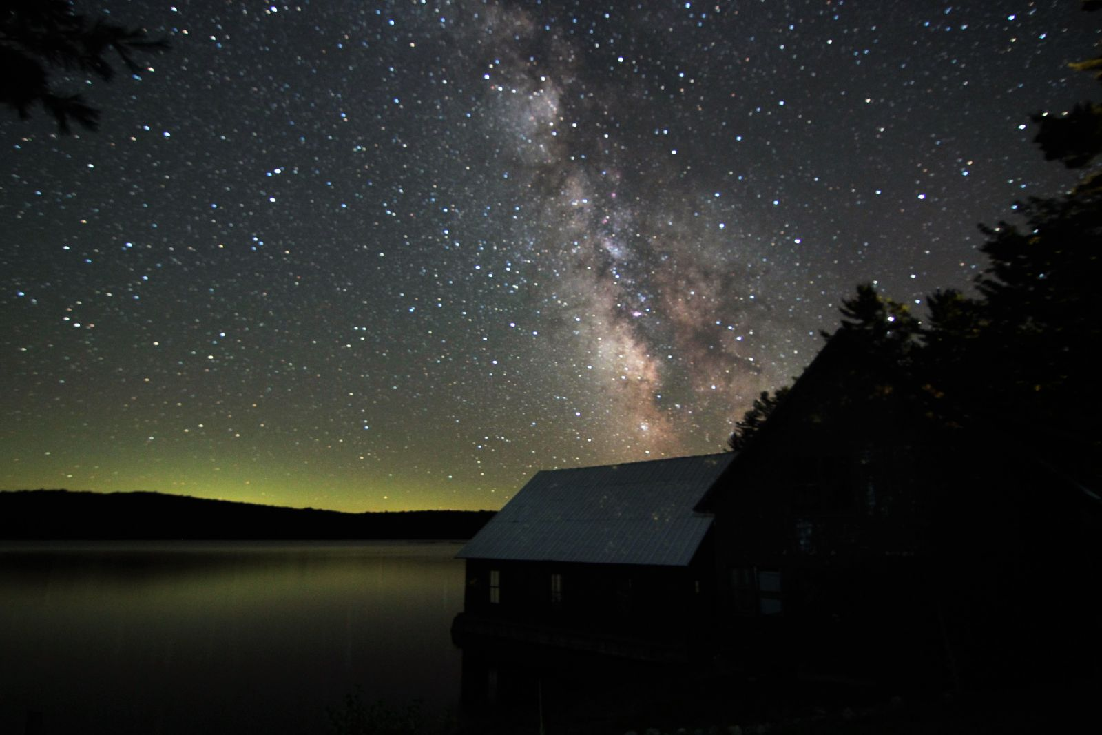 Views of the Milky Way over Little Tupper Lake. Photo by Marc Staves