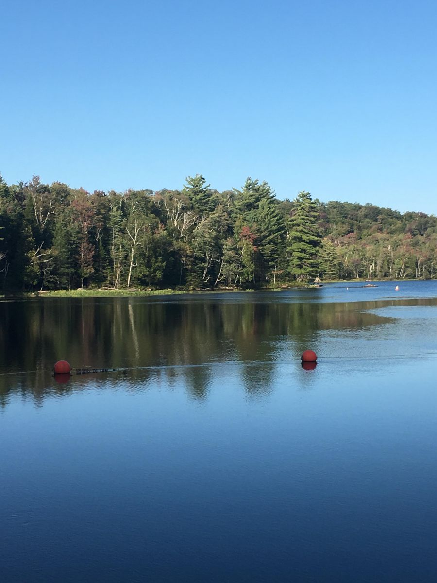 The view from Setting Pole Dam.