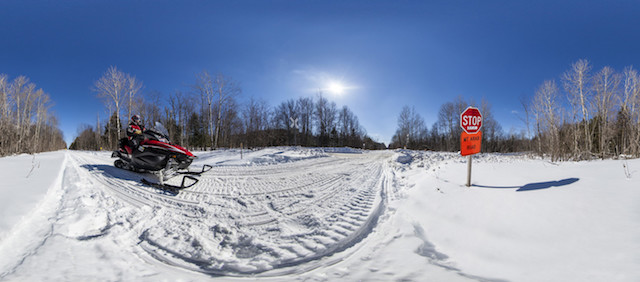 Lots of thrills and not that many chills with our snowmobiling.