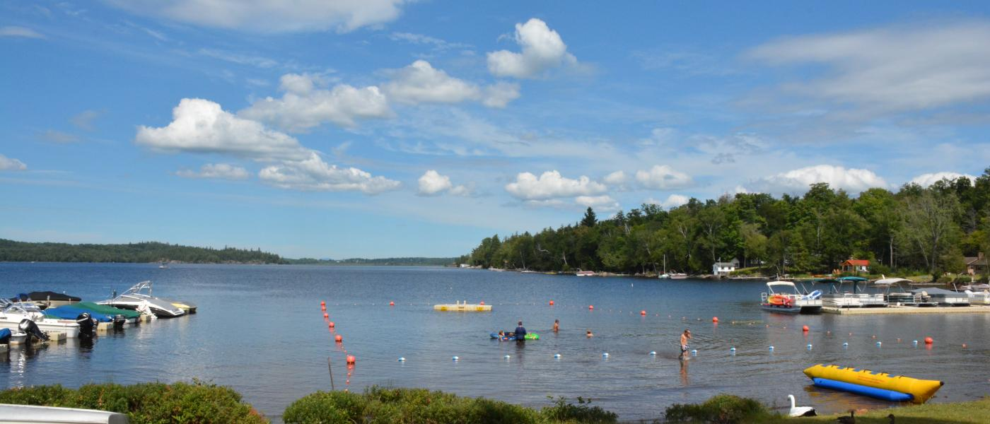 Blue Jay Campsite has their own marina, swimming area, and camp store.