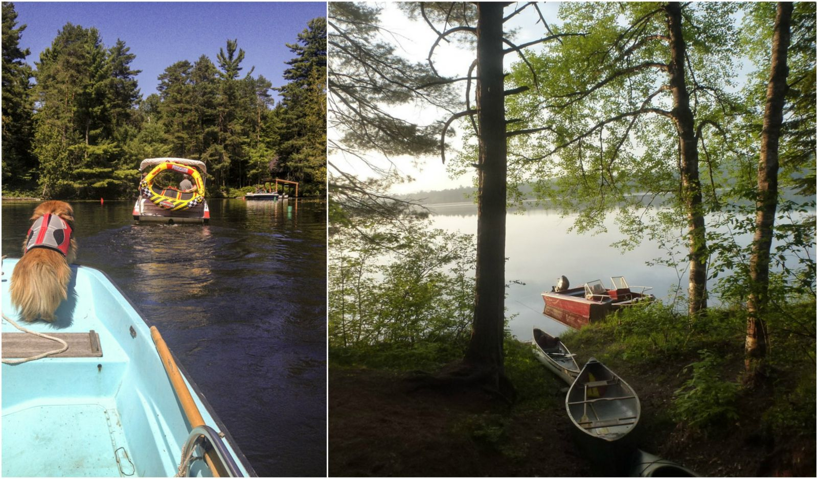 All kinds of boating at Fish Creek State Campground. And bring the doggie!